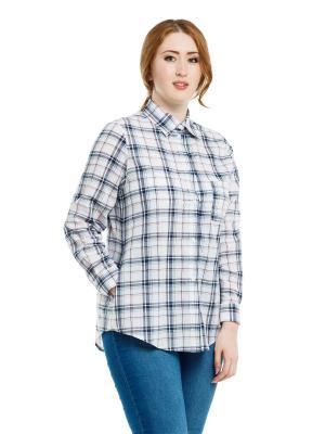 Рубашка Клетка xLady. Цвет: белый