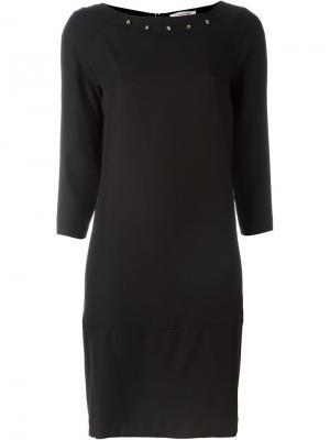 Платье с заклепками Borbonese. Цвет: чёрный