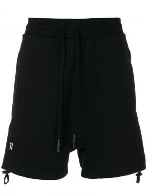Спортивные шорты на стяжке 11 By Boris Bidjan Saberi. Цвет: чёрный