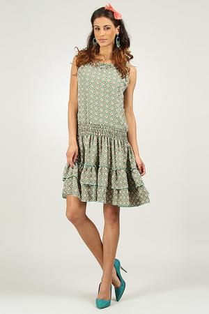 Платье AZURA. Цвет: зеленый
