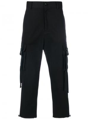 Strap pocket pants D.Gnak. Цвет: чёрный