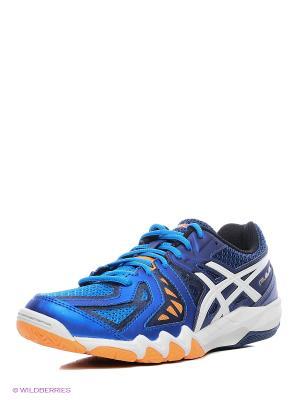 Кроссовки для игры в бадминтон GEL-BLADE 5 ASICS. Цвет: синий, белый, темно-синий