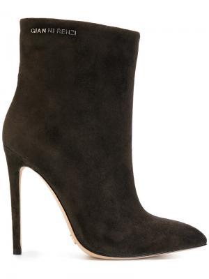 Ботинки с заостренным носком Gianni Renzi. Цвет: серый