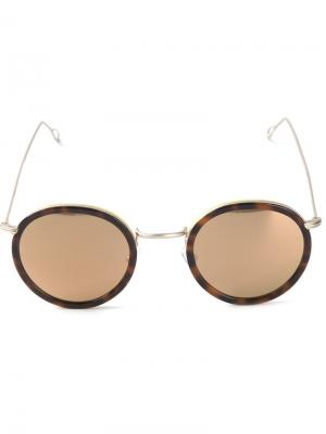Солнцезащитные очки Matty Kyme. Цвет: коричневый