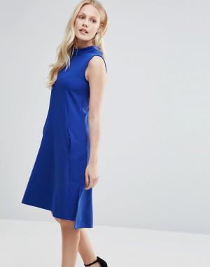 Closet London Платье-туника без рукавов. Цвет: синий