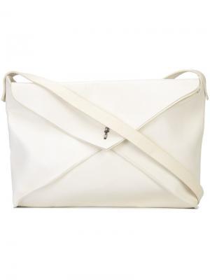 Сумка-конверт через плечо Ma+. Цвет: белый