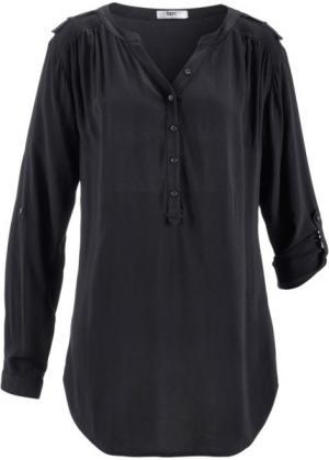 Туника с длинным рукавом (черный) bonprix. Цвет: черный