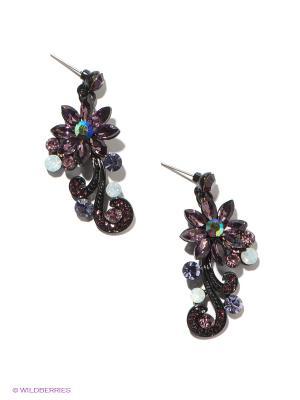 Серьги Royal Diamond. Цвет: фиолетовый, черный