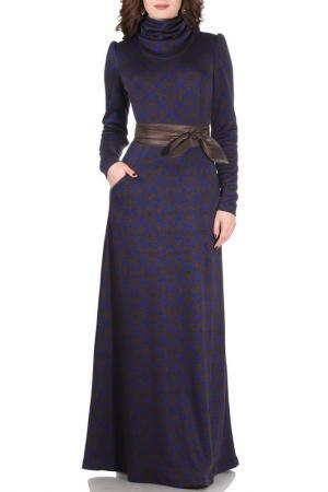 Платье Olivegrey. Цвет: васильково-коричневый