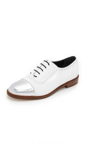 Ботинки на шнурках Lulu MEANDHER. Цвет: белый/платиновый
