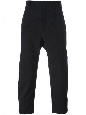 Укороченные брюки Oamc. Цвет: чёрный