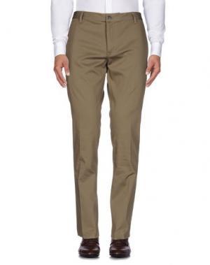 Повседневные брюки JOHN VARVATOS. Цвет: зеленый-милитари