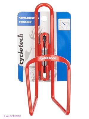 Флягодержатель велосипедный Cyclotech. Цвет: красный