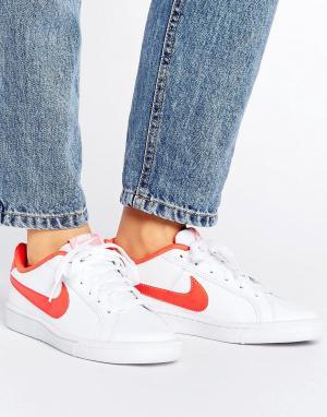 Nike Красно-белые кроссовки Court Royale. Цвет: мульти