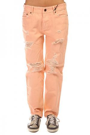 Джинсы прямые женские  Palme Peach Insight. Цвет: розовый