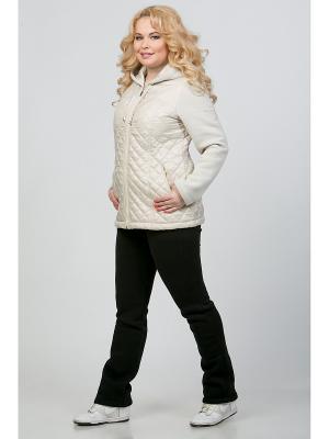 Куртка А Б Коллекция. Цвет: кремовый