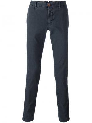 Классические брюки чинос Incotex. Цвет: серый