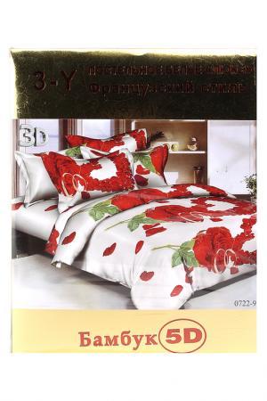 Постельное белье 1,5 сп. 70x70 Французский стиль. Цвет: мультиколор
