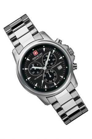 Watch Swiss military. Цвет: black and silver