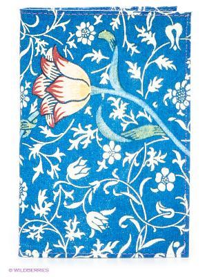 Обложка для паспорта Mitya Veselkov. Цвет: синий, бледно-розовый, красный, белый