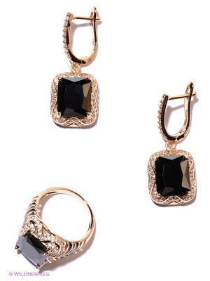 Комплект Lovely Jewelry. Цвет: золотистый, темно-зеленый