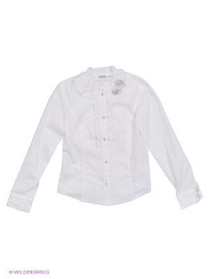Блузка Cleverly. Цвет: белый, молочный