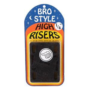 Подкладки для скейтборда  1/4 High Risers Bro Style. Цвет: черный