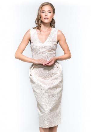Платье YuliaSway Yulia'Sway. Цвет: бежевый