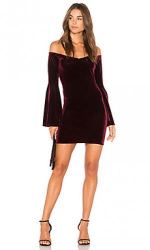 Мини платье trisha Clayton. Цвет: красное вино