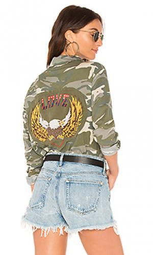 Рубашка с застёжкой на пуговицах anaya Lauren Moshi. Цвет: военный стиль