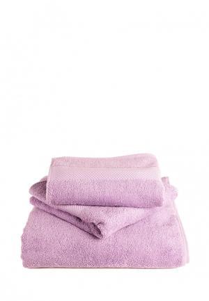 Комплект полотенец 3 шт. Bellehome. Цвет: фиолетовый