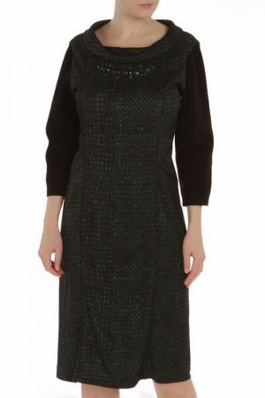 Платье Chiara DEste D'Este. Цвет: черный, зеленый