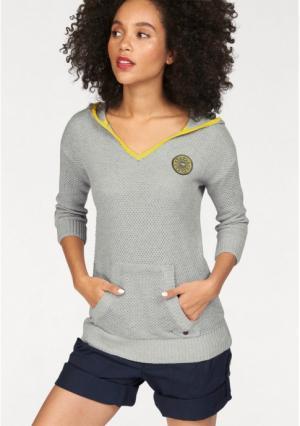 Пуловер Kangaroos. Цвет: серый/желтый