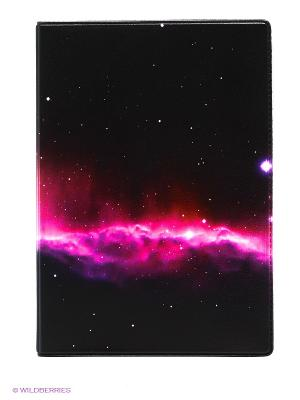 Обложка для автодокументов Ночное небо Mitya Veselkov. Цвет: фуксия, черный
