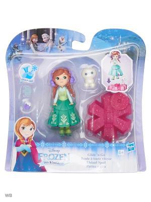Фигурка-игрушка Холодное сердце на движущейся платформе-снежинке Disney Princess. Цвет: светло-зеленый