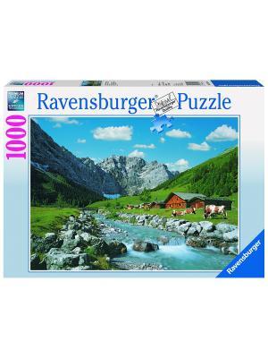 Пазл Австрийские горы, 1000 шт Ravensburger. Цвет: синий
