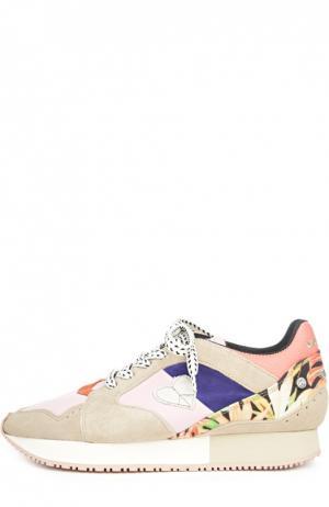 Комбинированные кроссовки Morgan с аппликацией Dolfie. Цвет: разноцветный
