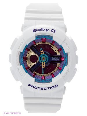Часы Baby-G BA-112-7A CASIO. Цвет: белый, сиреневый, фуксия