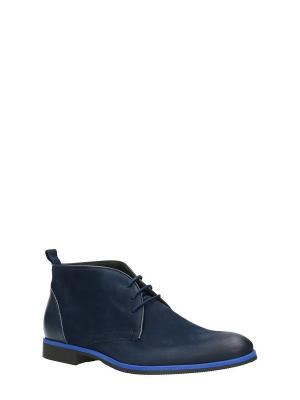 Ботинки GINO ROSSI. Цвет: темно-синий
