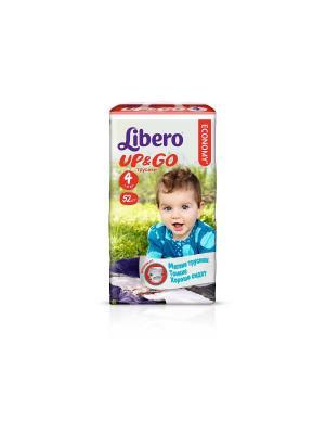 Libero Трусы детские одноразовые Up&Go макси 7-11кг 52шт упаковка мега. Цвет: зеленый