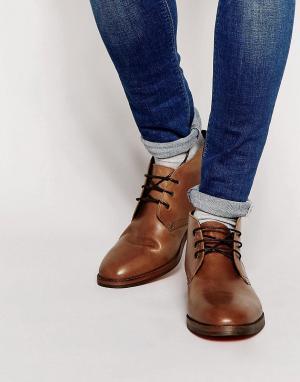 Hudson London Кожаные ботинки чукка Houghton. Цвет: коричневый