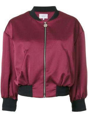 Укороченная куртка-бомбер Carven. Цвет: розовый и фиолетовый