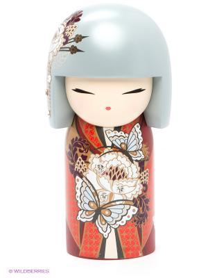 Кукла-талисман с кристаллами Swarovski Коко Kimmidoll. Цвет: красный, серый