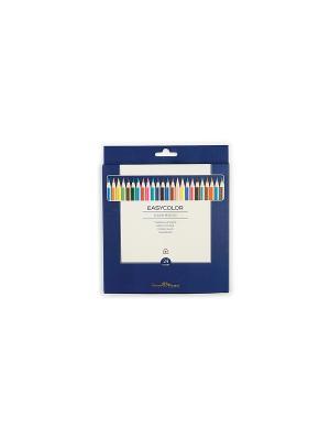 Набор цветных карандашей EASYCOLOR, 24 цвета Bruno Visconti. Цвет: синий