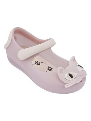 Туфли Melissa. Цвет: бледно-розовый