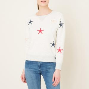 Свитшот со звездами MAISON SCOTCH. Цвет: серый