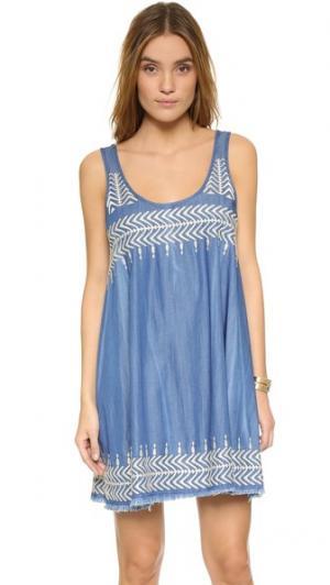 Платье с вышивкой plenty by TRACY REESE. Цвет: шамбре