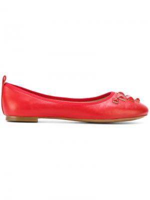 Cleo studded ballerina flats Marc Jacobs. Цвет: красный