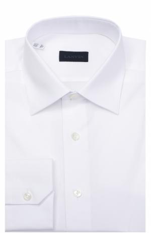 Хлопковая сорочка с воротником кент Lanvin. Цвет: белый