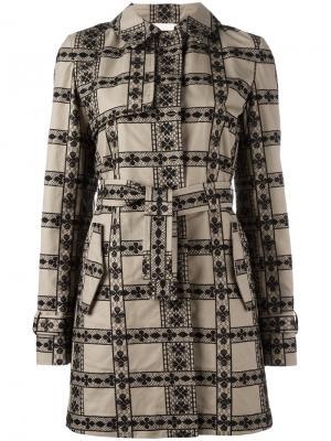 Пальто с панельным дизайном Giamba. Цвет: телесный